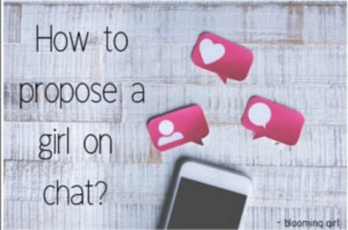 how to propose a girl on chat