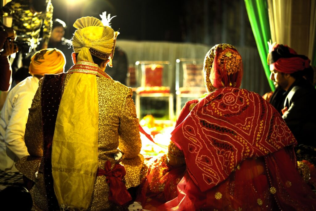 marriage of a couple in indian tradition